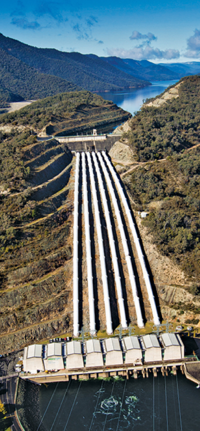 Tumut 3 Power Station, the largest in the Snowy Mountains Hydro-electric Scheme. Photo courtesy of Snowy Hydro Limited.